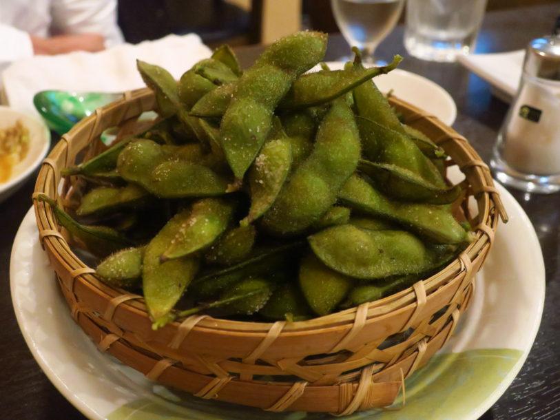 弘前市内の居酒屋で提供された毛豆